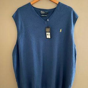 Polo sweater vest. Size 3LT